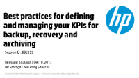 BB2099 - Best practices for defining and managing your KPIs for backup, recovery and archiving