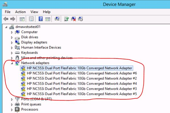 Windows Server 2012 and HP NC553i Dual Port Flex F... - Hewlett