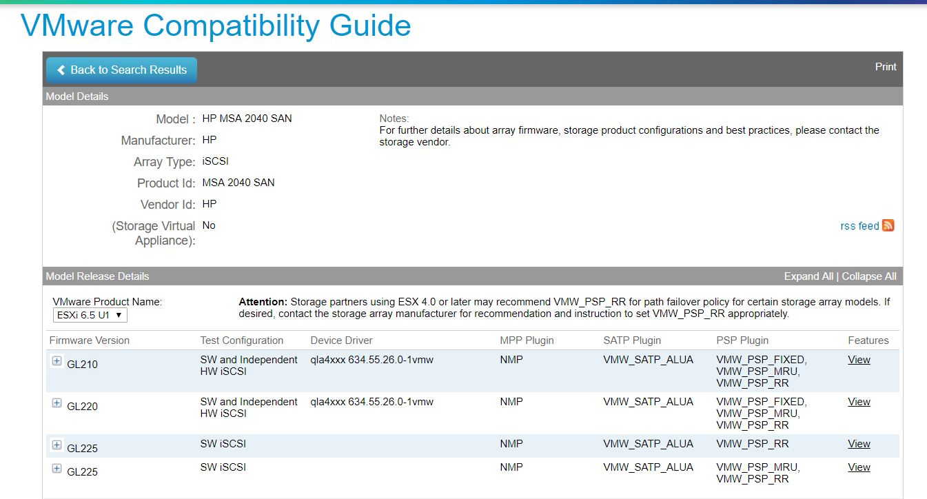Disk Performance - VMWARE 6 7, MSA2040 SAS and sof    - Hewlett