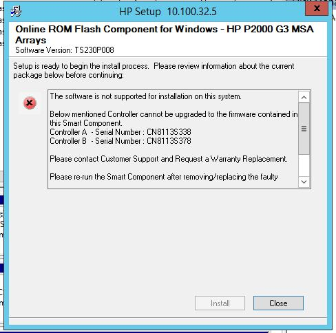 It network infrastructure: hp p2000 g3 firmware upgrade.