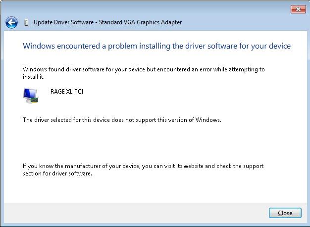 VGA Driver ATI Rage XL for Server 2008 x64 - Hewlett Packard