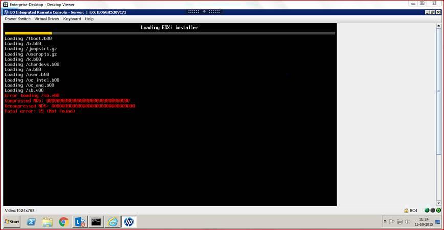 ESXi 6 0 0 install error on DL380 Gen9 - Hewlett Packard