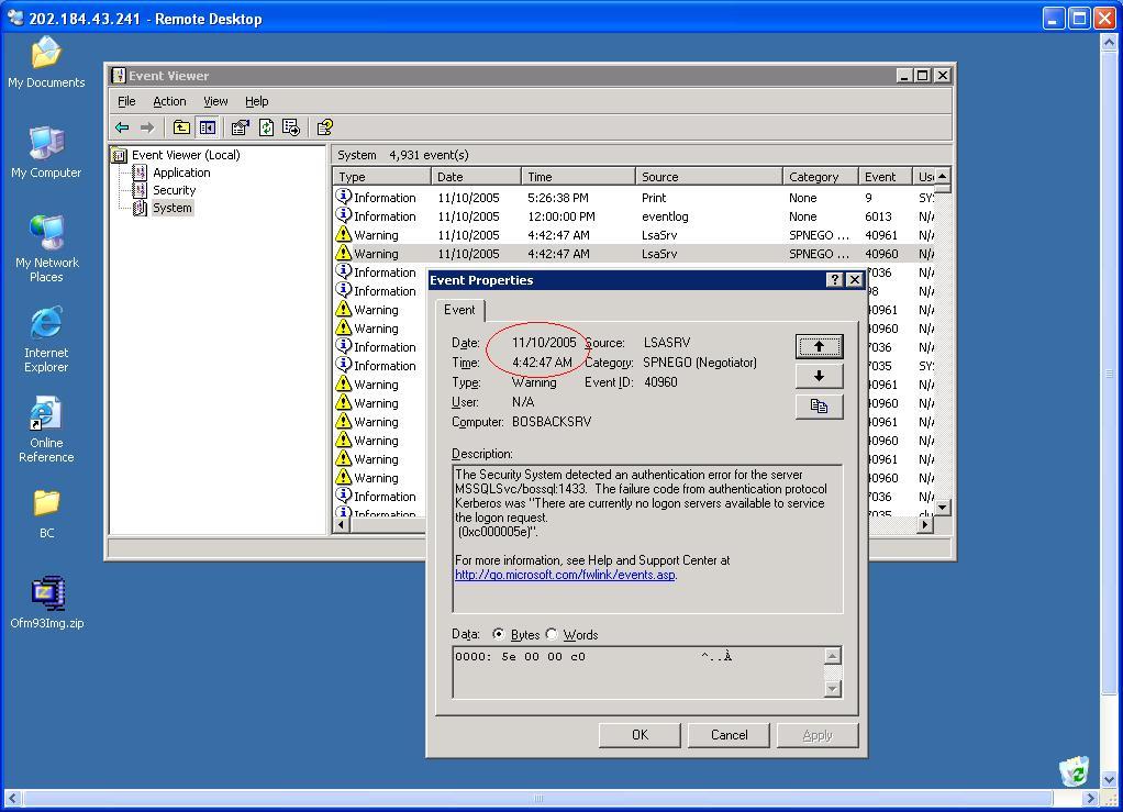 RE: Online backup error log - Hewlett Packard Enterprise
