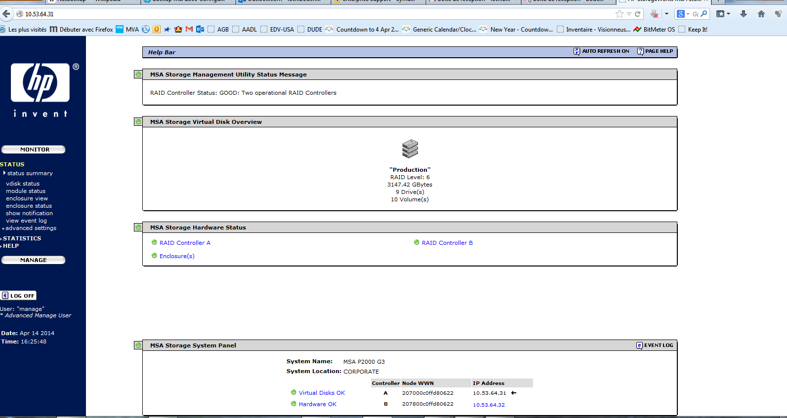 Backup MSA2000 Configuration - Hewlett Packard Enterprise
