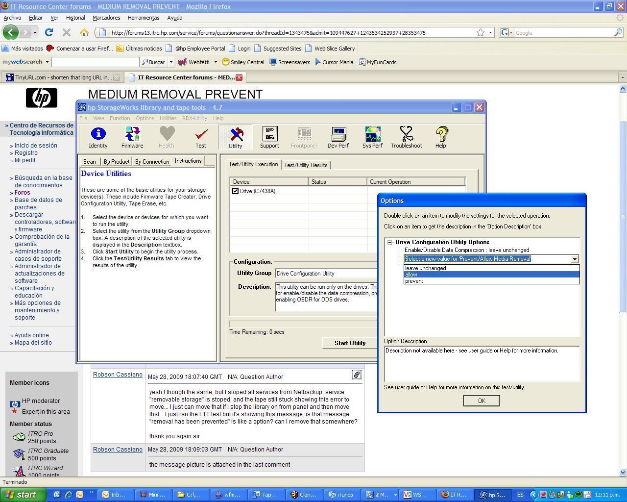 Solved: MEDIUM REMOVAL PREVENT - Hewlett Packard Enterprise