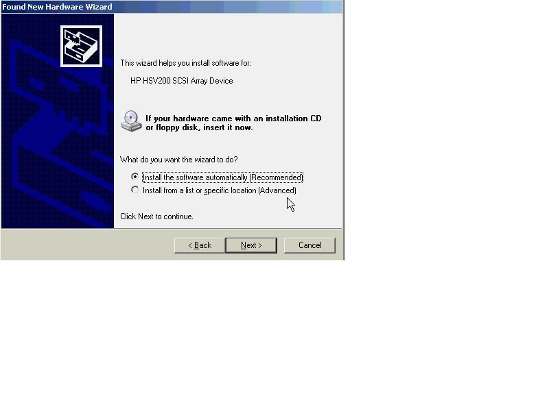 DRIVERS: HP HSV200 SCSI ARRAY