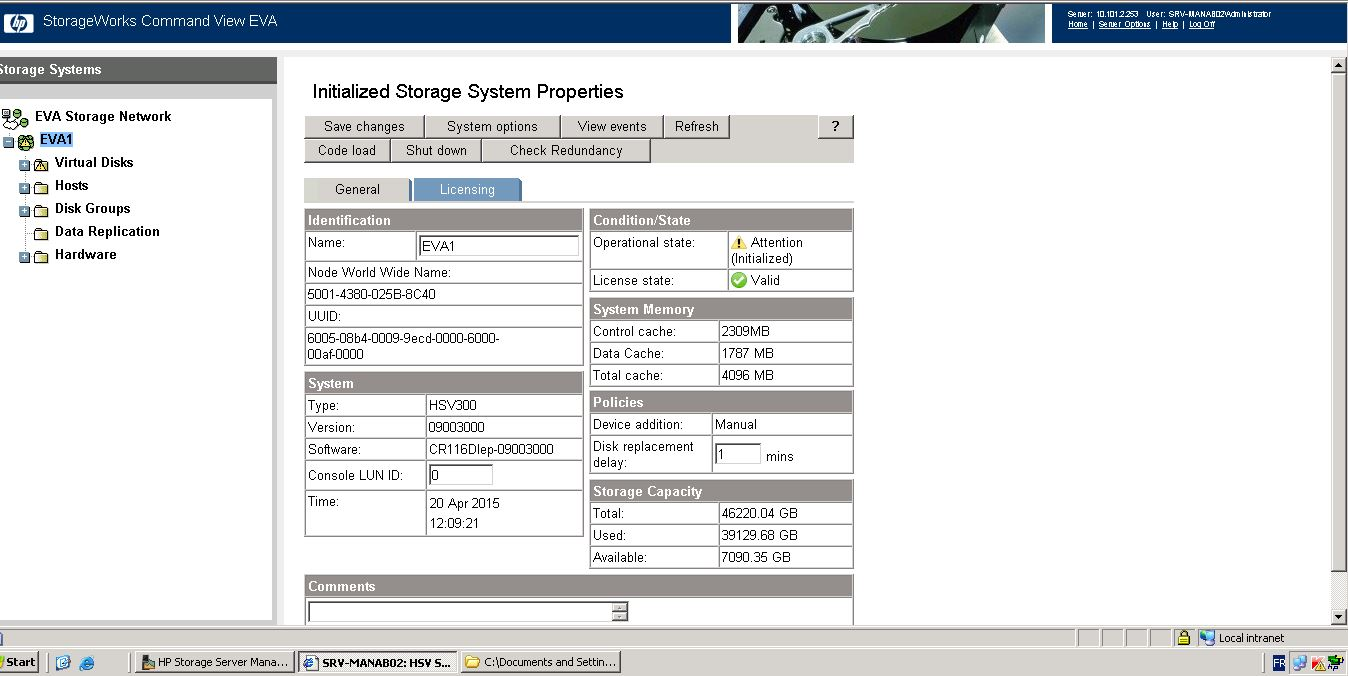 Solved: EVA 4400 firmware update - Hewlett Packard
