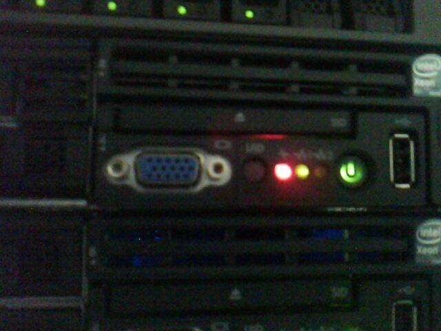 hp proliant d360 g6 red light blinking - Hewlett Packard