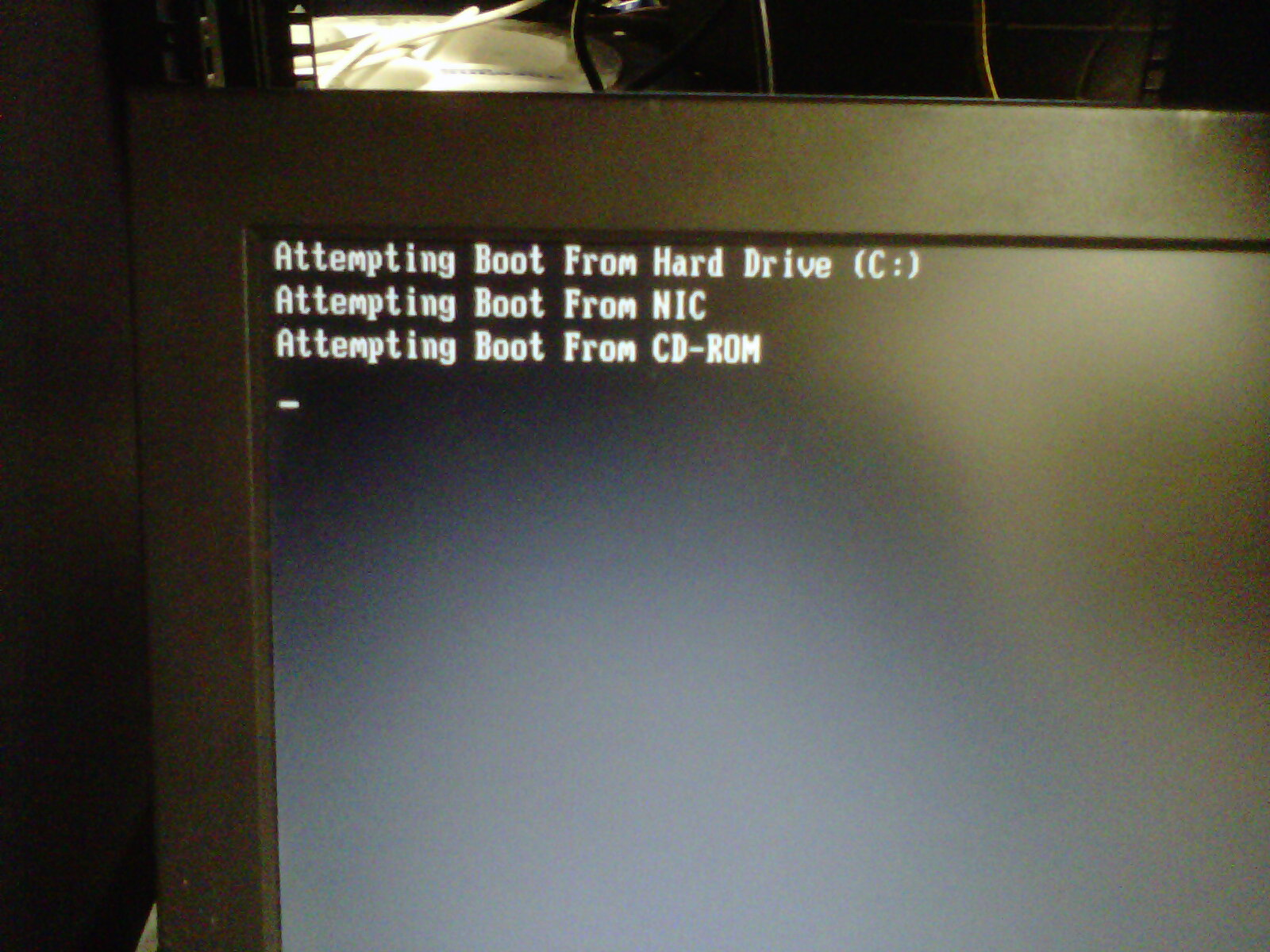 Booting from USB DVD on DL380 G4
