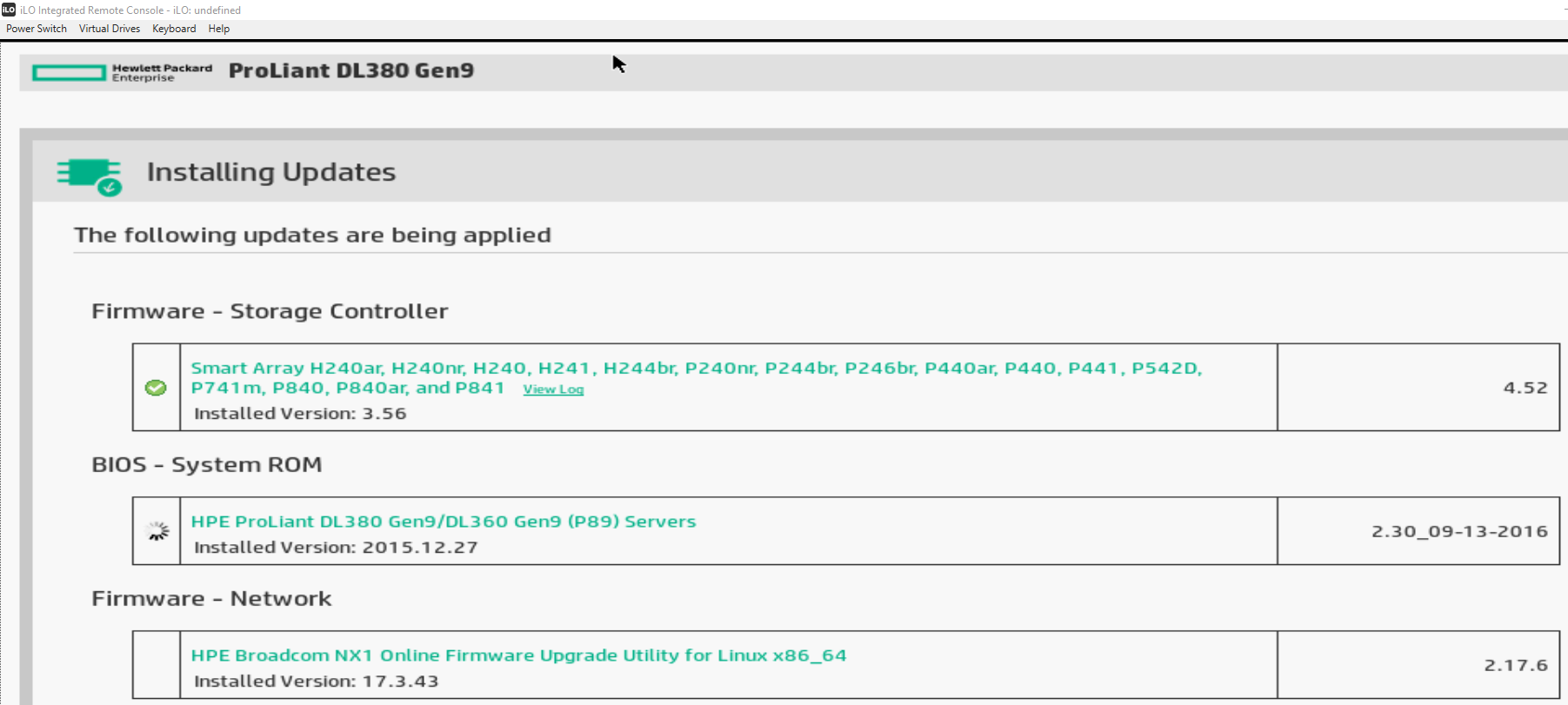 Re: Intelligent Provisioning Firmware Update not w    - Page
