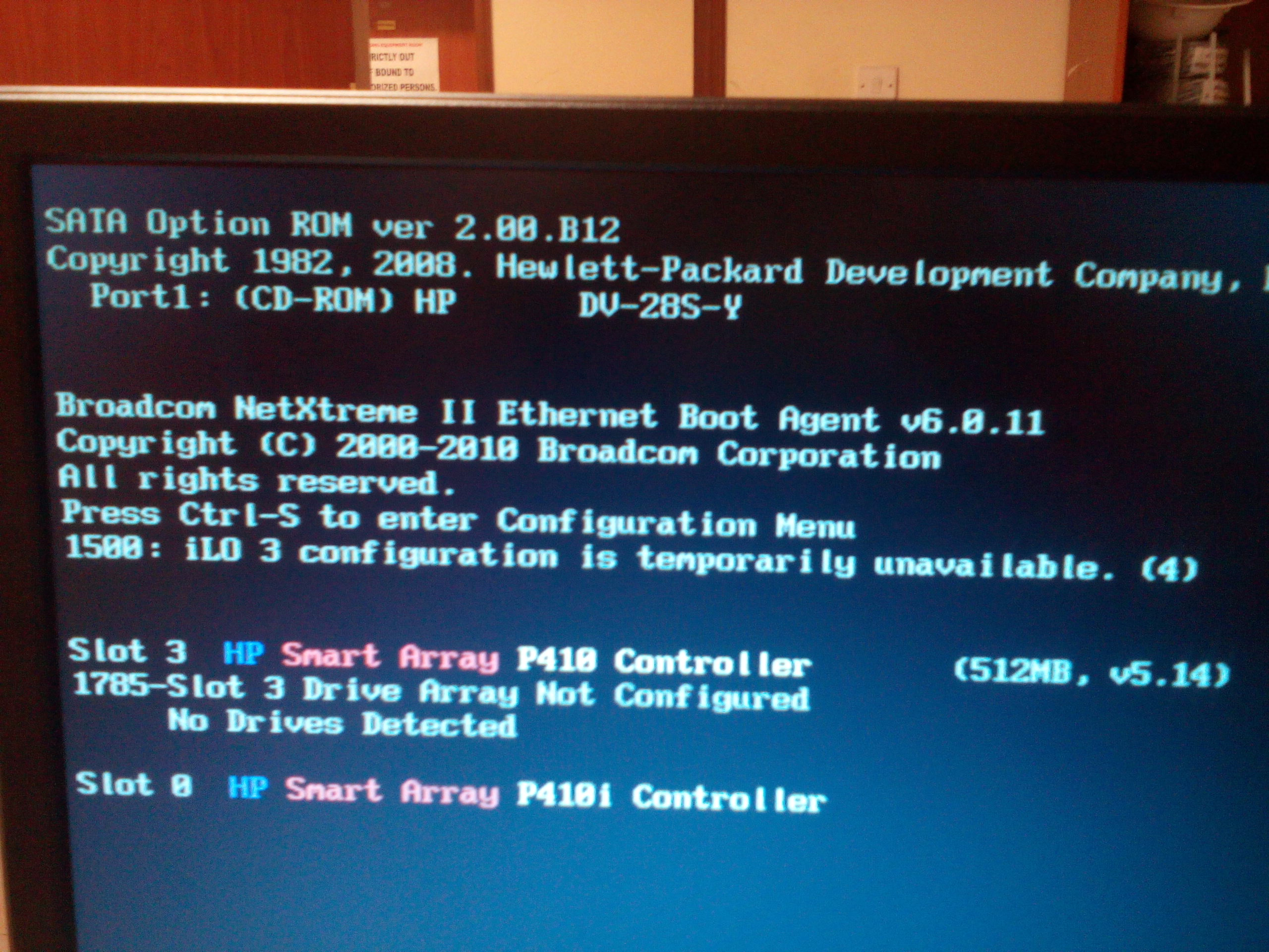 HP ProLiant DL380 G7 Servers - Hard Drive(s) not B    - Hewlett