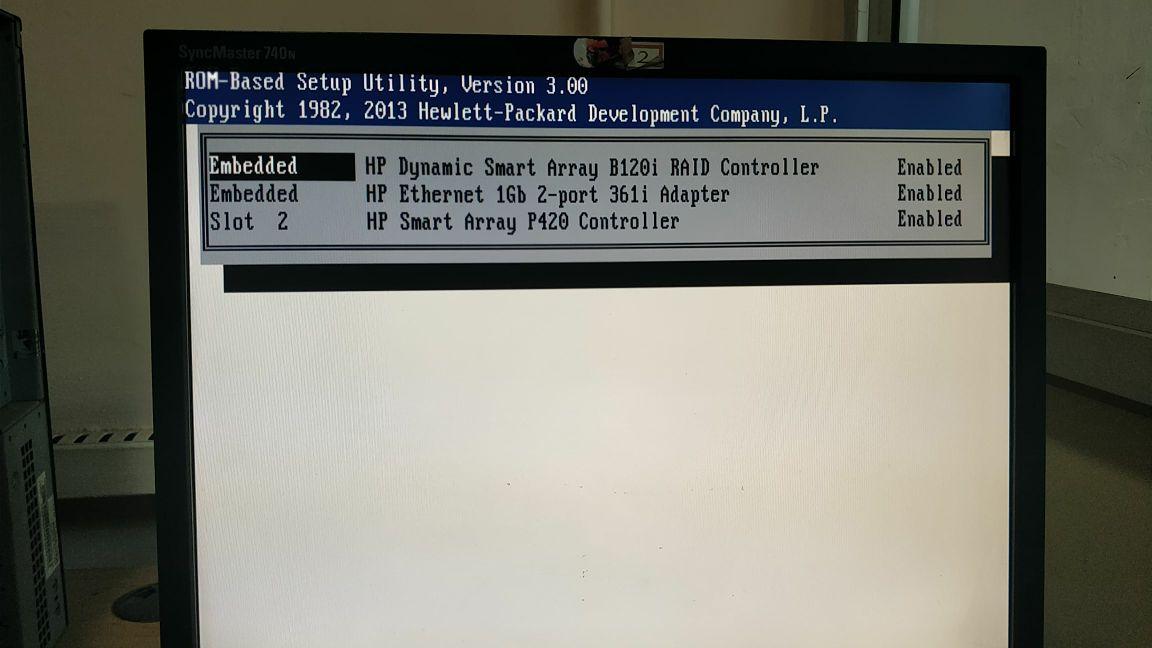 Solved: Hp Proliant Server Slot 2 drive array controler fa