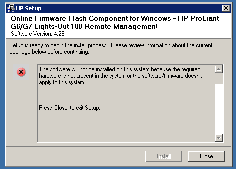 Unable to fix bmc 601 error [ML150G6] - Hewlett Packard