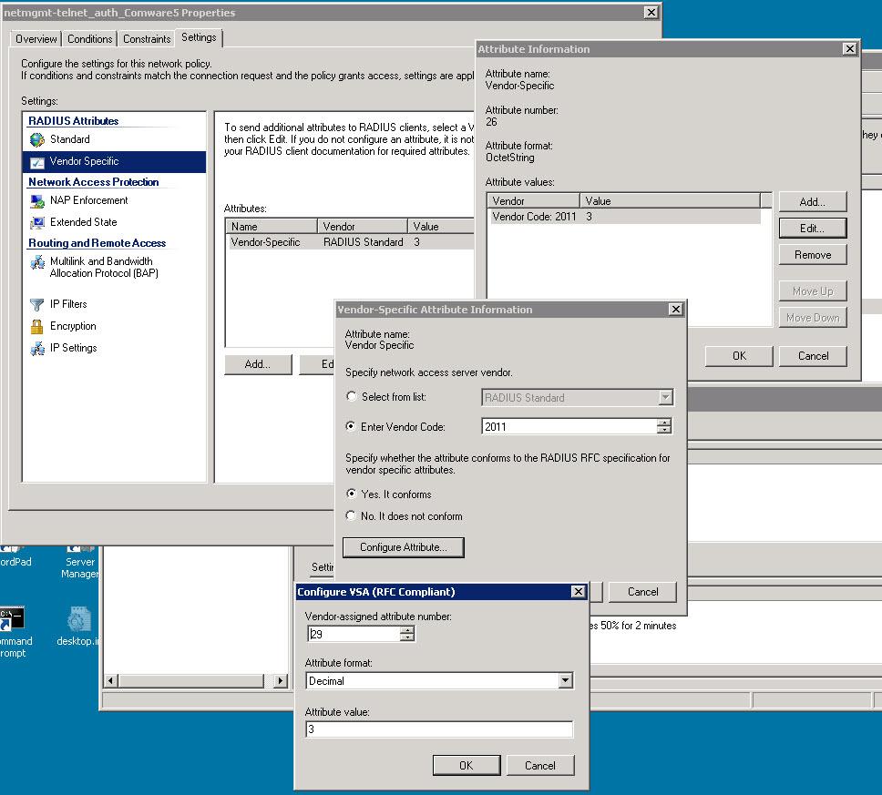 5920: RADIUS attributes for SSH login on HP 5920AF - Hewlett