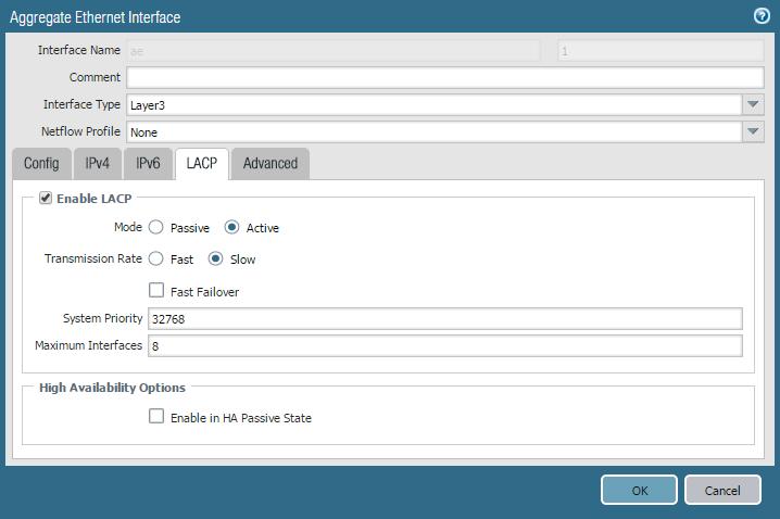 LACP trunk to PaloAlto FW - Hewlett Packard Enterprise Community