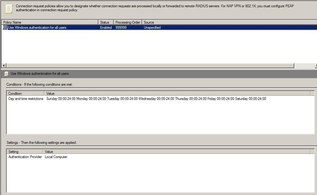 HP Procurve NPS RADIUS authentication issue - Hewlett