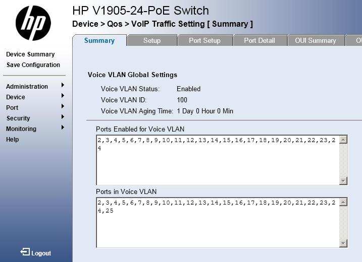 v1905 setup With a cisco 2811  - Hewlett Packard Enterprise