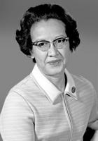 Female African-American mathematician, Katherine Johnson