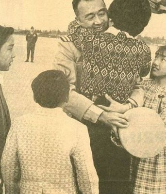 5.45 years ago - Kathy Takayama's Dad returned home after having been a POW at the Hanoi Hilton