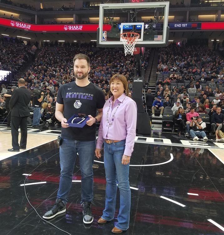 Kathy Takayama honored as a Hometown Hero by the Sacramento Kings
