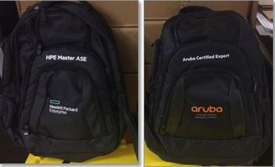 Don't miss out on Aruba Expert or HPE Master ASE swag!