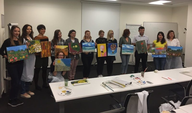 Team painting class