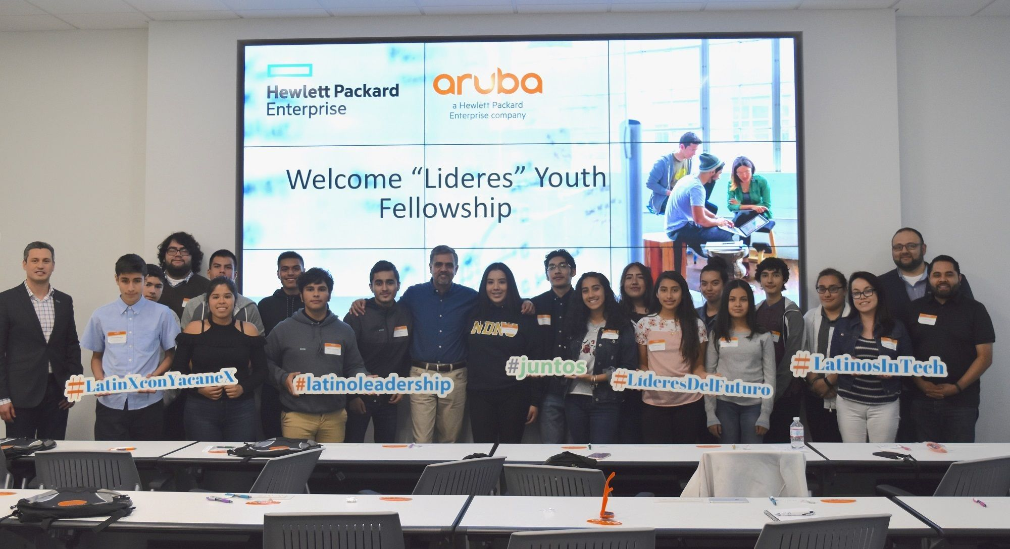 Lideres Youth Fellowship visited HPE offices in Santa Clara, CA.