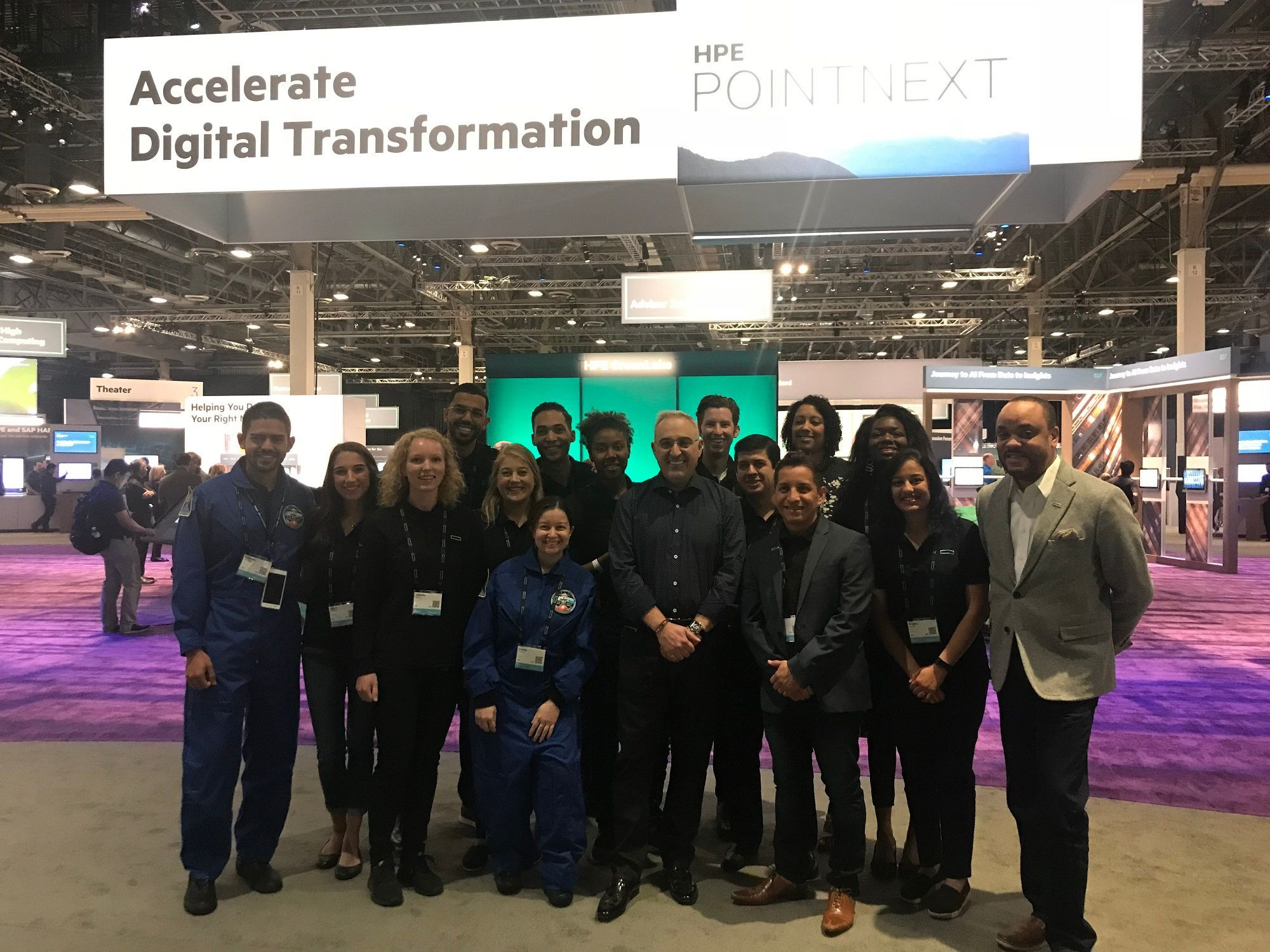 HPE Discover Young Employee Network Ambassadors with HPE Chief Diversity Officer, Brian Tippens, at HPE Discover