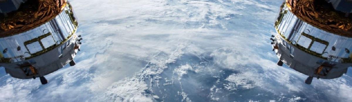 Satellites over snow pack