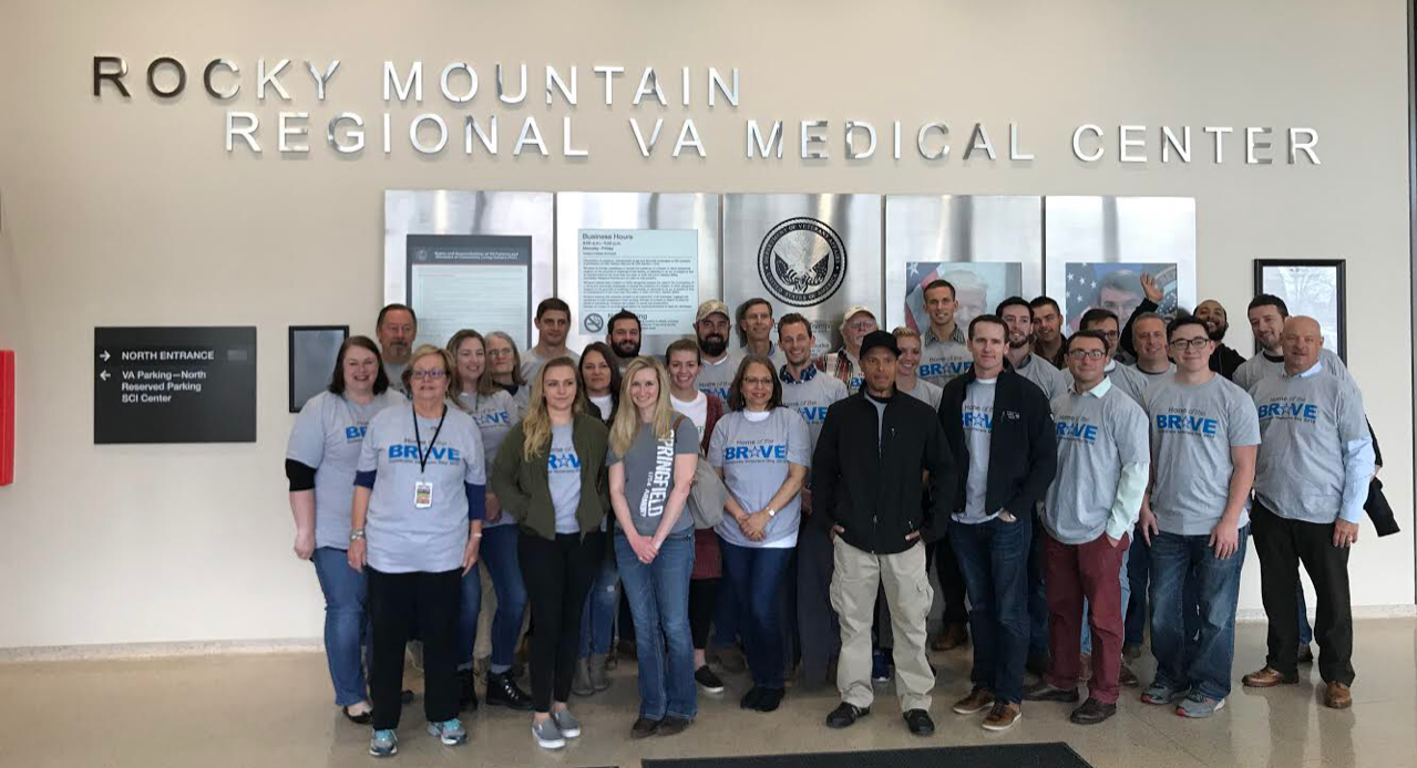 Home of the Brave Campaign volunteers at the Rocky Mountain Regional VA Medical Center in Denver