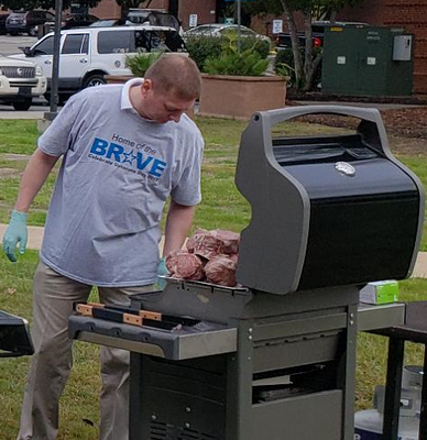 Grilling for over 500 Veterans in Columbia, SC.