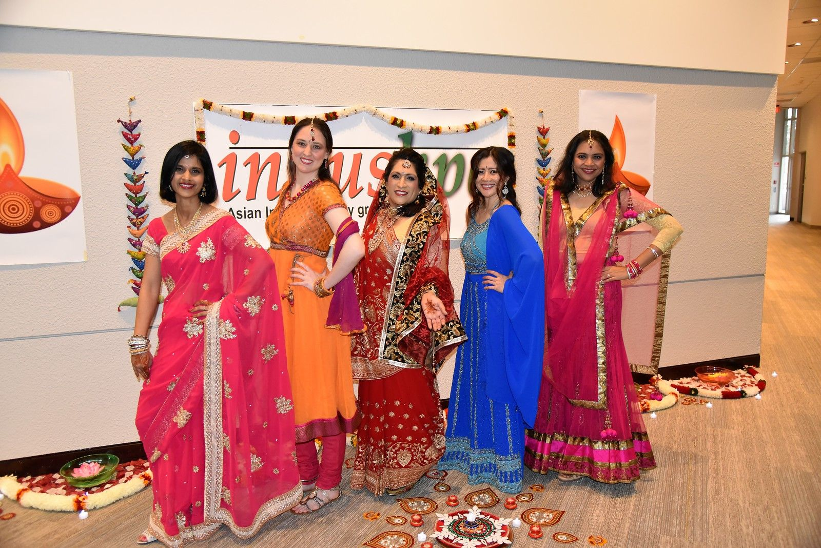 Participants in the Fashion Show not only dressed in beautiful traditional Indian clothing  - they even had a Henna ceremony the night before so our employees could understand this part of the Indian culture