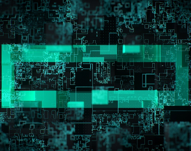 HPE Element superimposed on circuitry