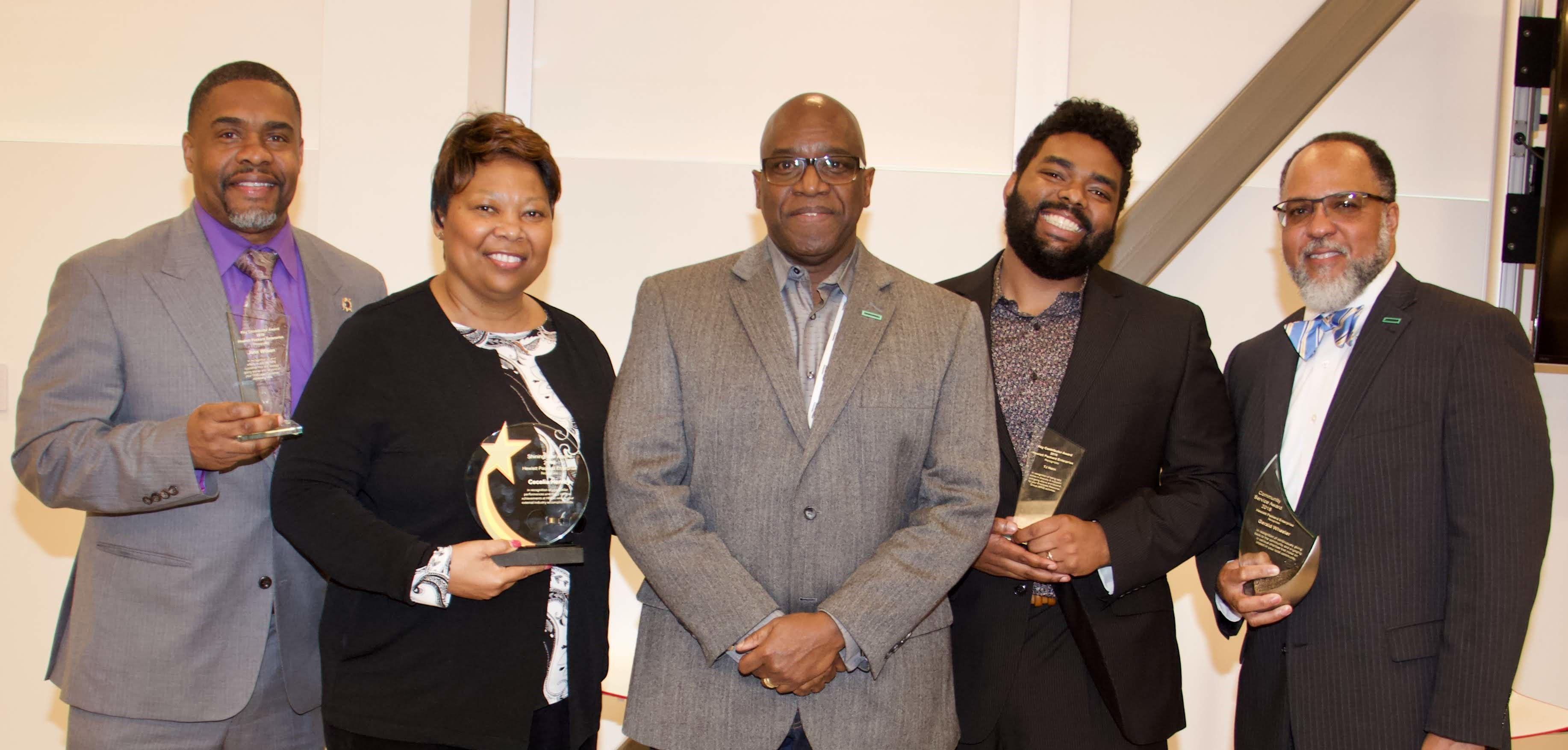 Atlanta Black History Month Award Winners  - John Wilson, Key Contributor; Cecelia Henley, Shining Star; TJ Helm, Key Contributor; Gerald Wheeler, Community Service