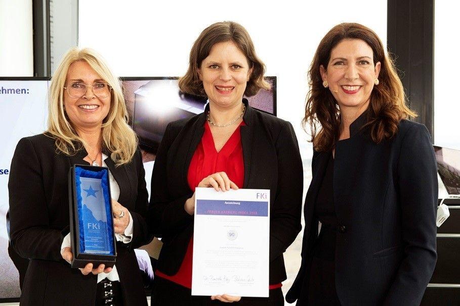Eva Faenger (HPE), Juliane Seifert (State Secretary, German Ministry of Family Affairs), Barbara Lutz (Founder Women Career Index)