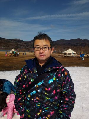 Akio Miyanaga  in one of his family's outdoor adventure!
