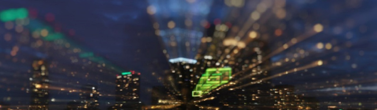 Out of focus image of city with movement