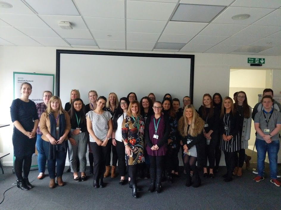 HPE Womens Network UKI participants in Self-Confidence Workshop