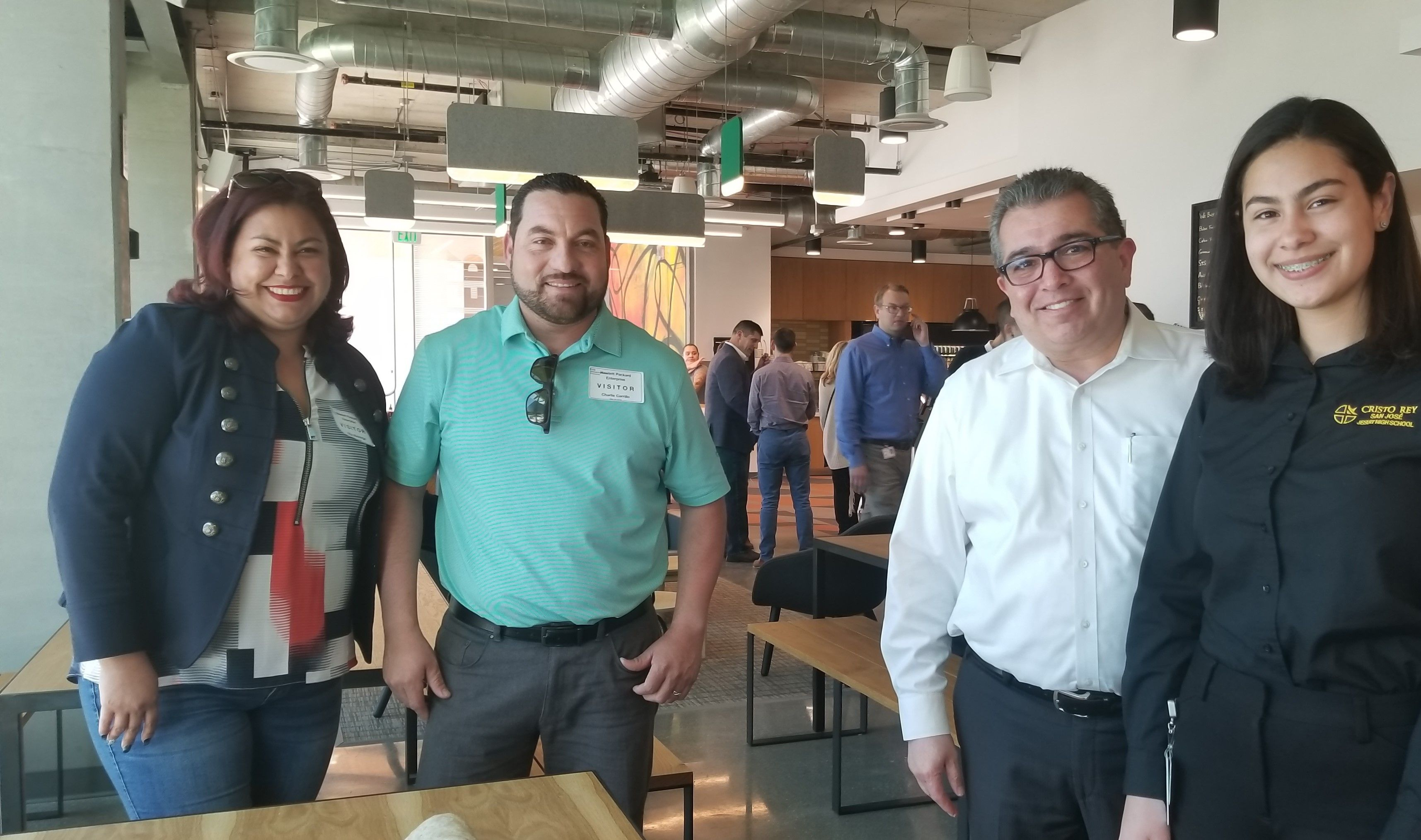 Marian Ertll with her parents and Jesse Chavez,  HPE Senior Vice President, Global Partners
