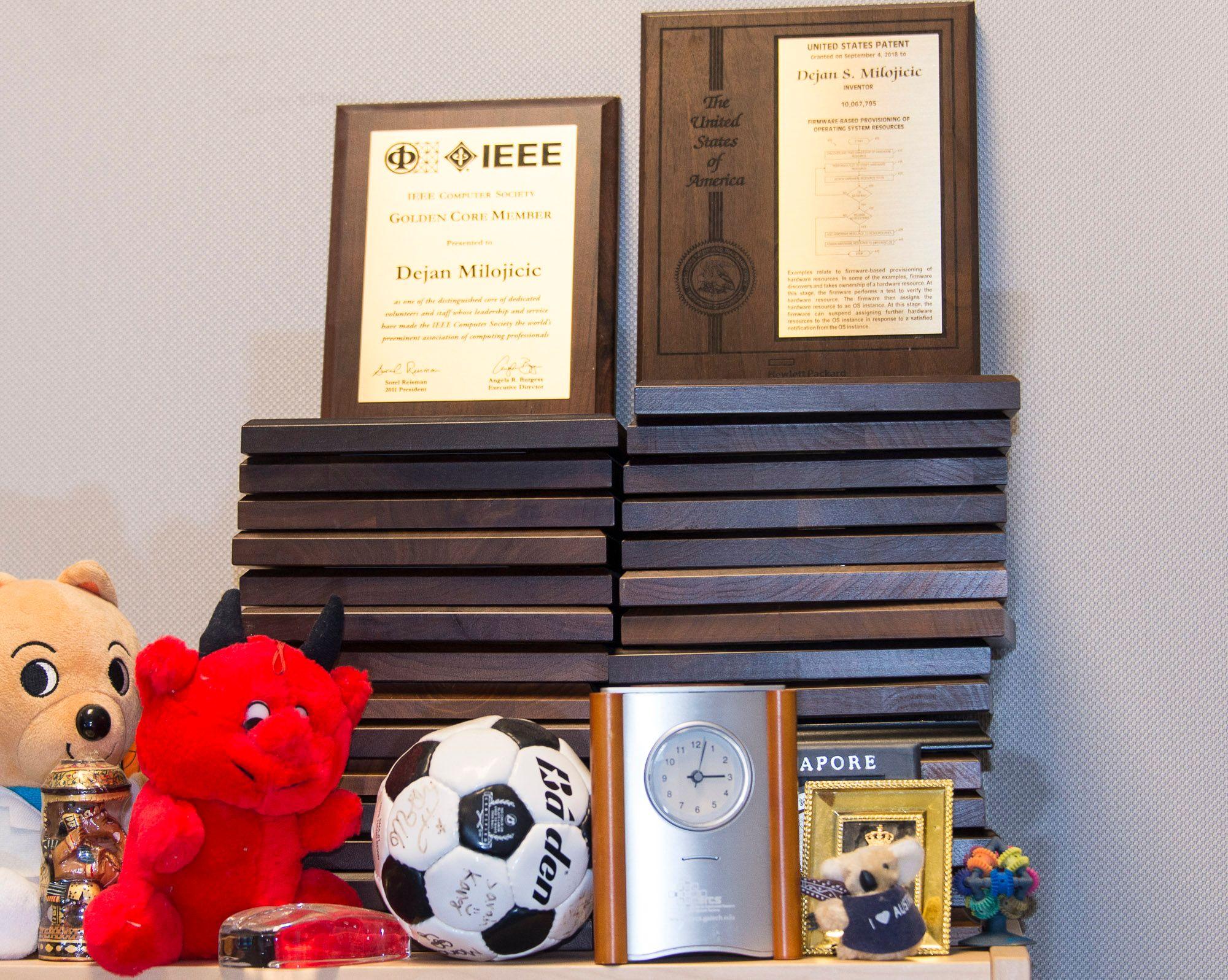 Dejan Milojicic's patents prefer the football