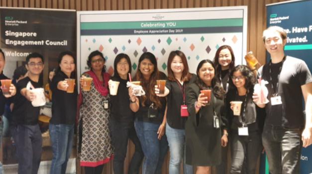 Singapore employees celebrating Employee Appreciation Day