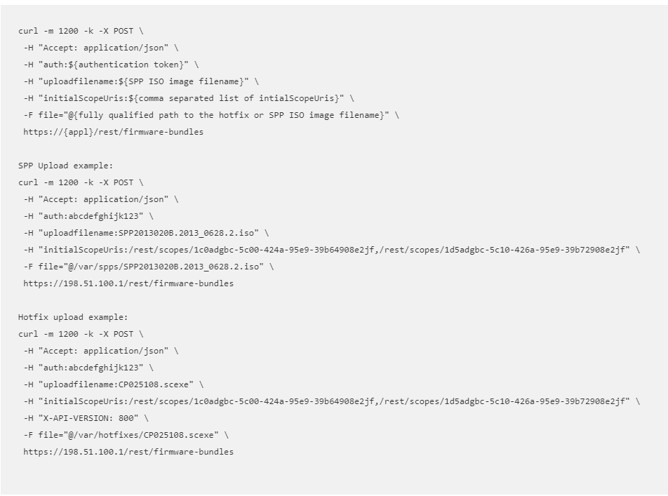 Upload SPP cURL examples from OV REST API Documentation.png