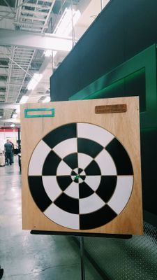 Dartboard Annabel made for the Intern Project Fair this summer in the Makerspace