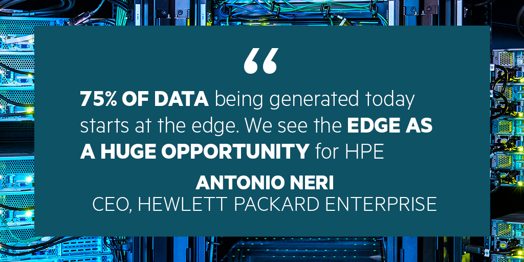 Edge data is a huge opportunity for HPE