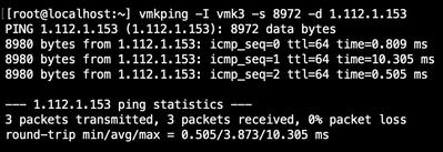 Figure 13: ESXi jumbo vmkping to array's data2 discovery IP