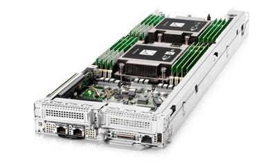 Die HPE Apollo 2000 Gen 10 Plus Einschübe lassen sich mit vier HPE ProLiant XL225n Gen10 Plus Servern bestücken.
