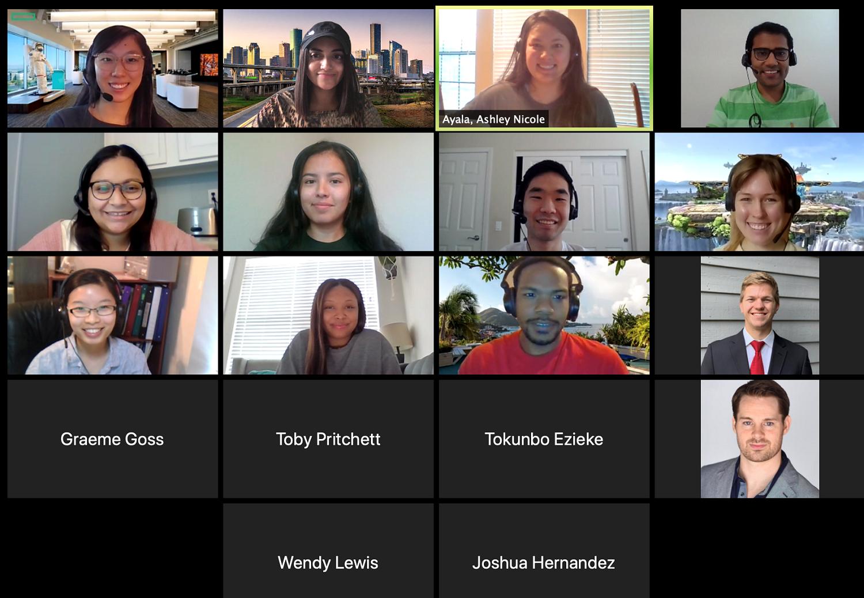 Interns lunch virtual gathering!