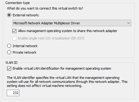Virtual Switch Manager in Hyper-V