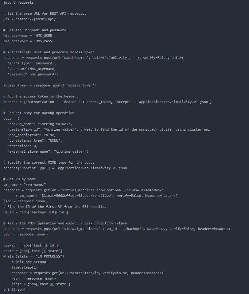 VM backup without the Python SDK.