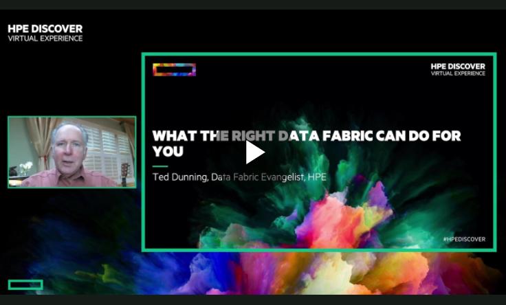 Sehen Sie in diesem Video mit Ted Dunning, was die richtige Data Fabric für Sie tun kann.